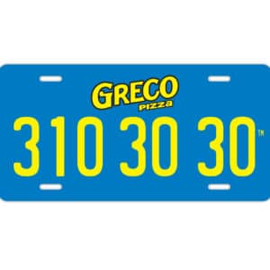 3103030 License Plate