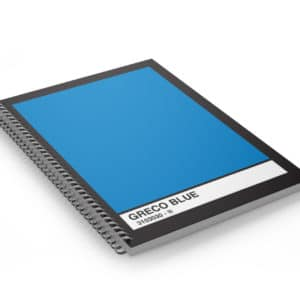 Note Book Coil Bound Pantone Blue Cover