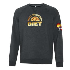 Well Rounded Diet with Gold on it Sweatshirt